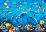 【引上品】■300マイクロピースジグソーパズル:クルージング ドルフィン(CRラッセン)《廃番商品》