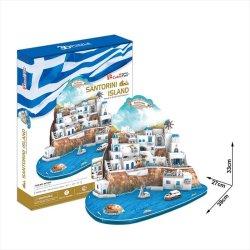 画像1: 3Dパズル サントリーニ島(ギリシャ)