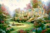 ◆希少品◆2000スモールピースジグソーパズル:春の庭(トーマス・キンケード)《廃番商品》