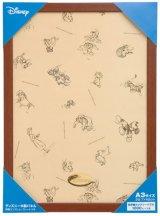 ディズニー世界最小1000ピースジグソー専用木製パネル ブラウン(29.7×42cm/A3)