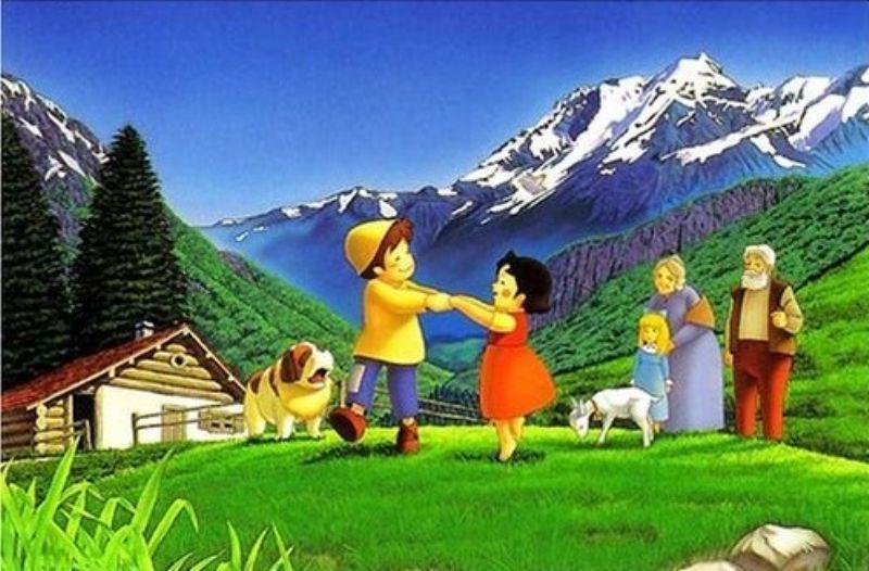 300ピースジグソーパズルアルプスの少女ハイジ 牧場のダンス廃番